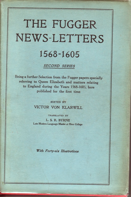 Image for Fugger News-Letters; 1568-1605; Second Series