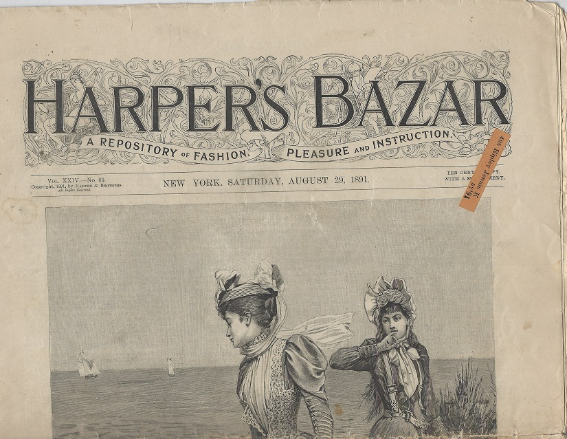 Image for Harper's Bazar:  A Repository of Pleasure and Instruction, August 29. 1891