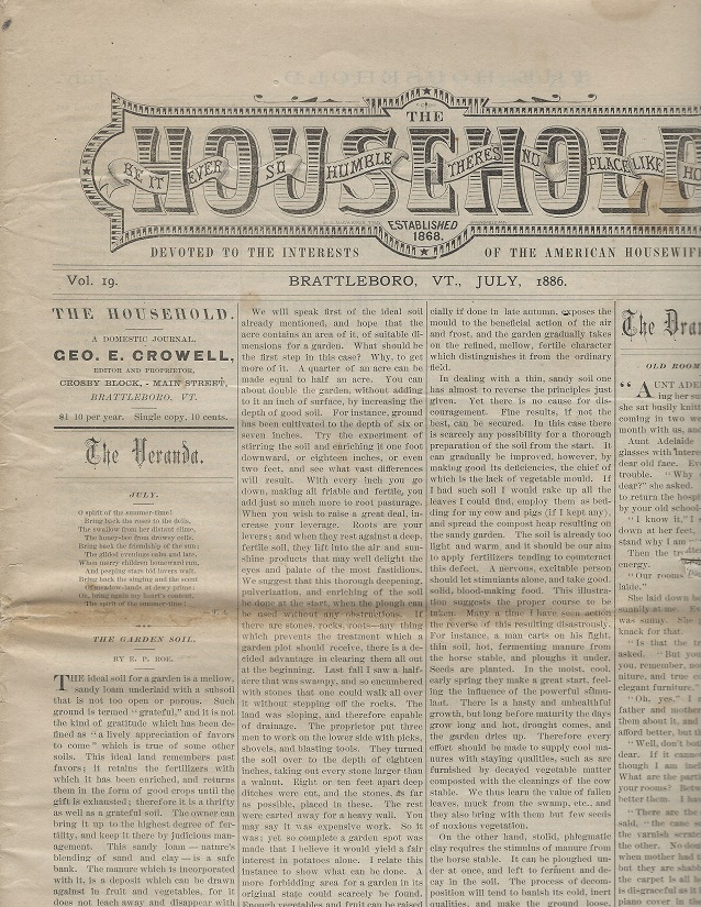 Image for The Household:  Devoted to the Interests of the American Housewife, July 1886