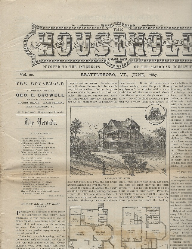 Image for The Household:  Devoted to the Interests of the American Housewife, June 1887