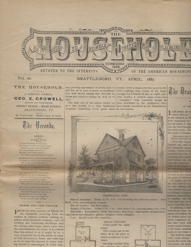 Image for The Household:  Devoted to the Interests of the American Housewife, April 1887