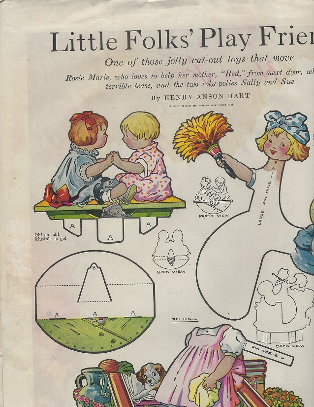 Image for Little Folks' Play Friends and Trips To Mother Goose Land (Cut-out Toys That Move)