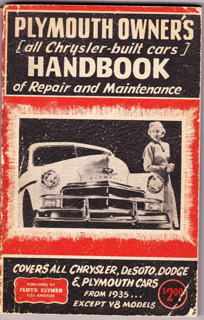 Image for Plymouth Owner's Handbookof Repair and Maintenance (And All Other Chrysler Products)