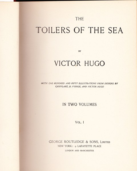 Image for Toilers of the Sea, 2 volumes