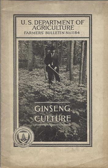 Image for Ginseng Culture, Farmer's Bulletin No. 1184