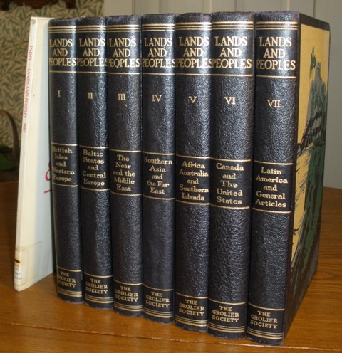 Image for Lands and Peoples of the World in Color, 7 Volumes plus Index.