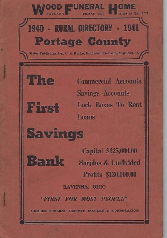 Image for 1940 - Rural directory - 1941 Portage County