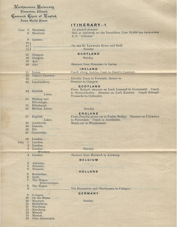 Image for Itinerary - Tour of Europe circa 1900