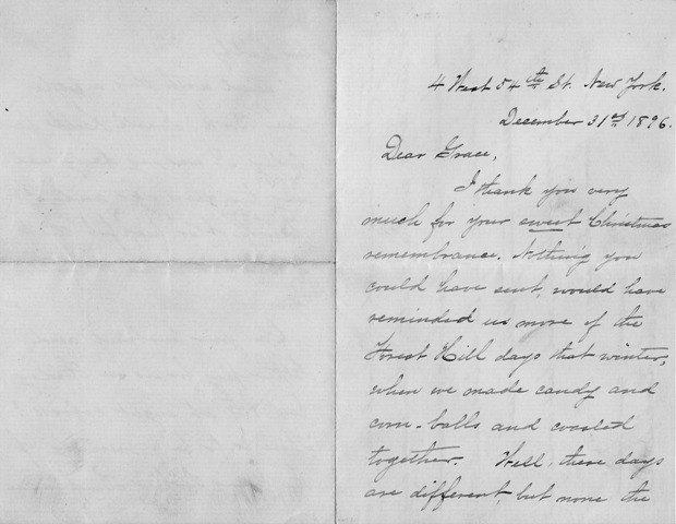Image for S. E. Rockefeller: Signed, Handwritten Personal Letter Dated 1896