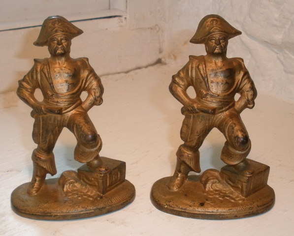Image for Bookends - Pirate with Foot on Treasure Chest