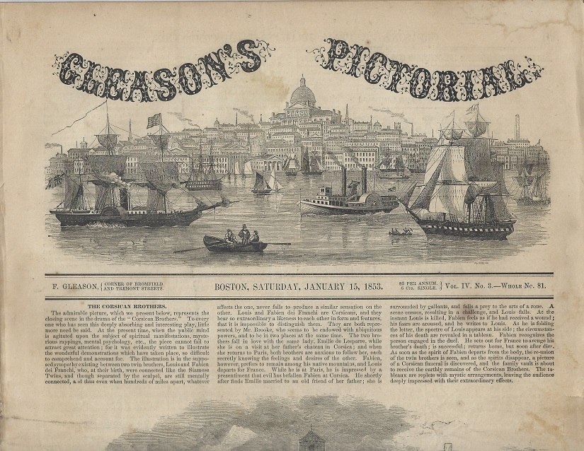 Image for Gleason's Pictorial, Vol IV, No. 3, January 15, 1853