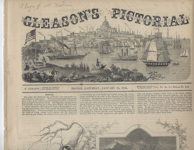 Image for Gleason's Pictorial, Vol VI, No. 2, January 14, 1854