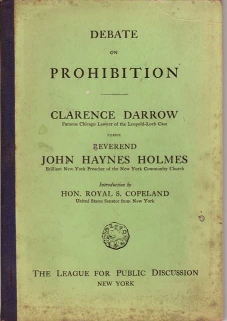 Image for Debate On Prohibition